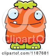Cartoon Of A Happy Furry Monster Royalty Free Vector Clipart