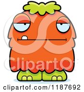 Cartoon Of A Bored Furry Monster Royalty Free Vector Clipart