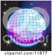 Sparkling Disco Ball Clipart Illustration