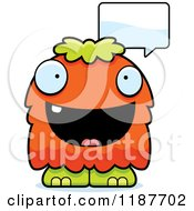 Cartoon Of A Talking Furry Monster Royalty Free Vector Clipart