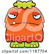 Cartoon Of A Mad Furry Monster Royalty Free Vector Clipart
