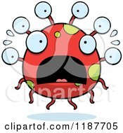 Cartoon Of A Scared Eyeball Monster Royalty Free Vector Clipart by Cory Thoman