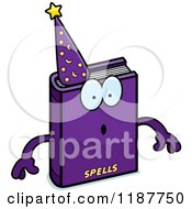 Cartoon Of A Surprised Magic Spell Book Mascot Royalty Free Vector Clipart