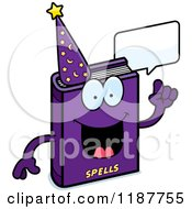 Cartoon Of A Talking Magic Spell Book Mascot Royalty Free Vector Clipart