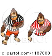 Clipart Of Gorilla Football Referees Royalty Free Vector Illustration by Vector Tradition SM