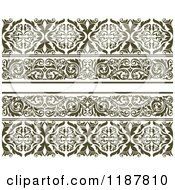 Clipart Of Vintage Ornate Floral Borders Royalty Free Vector Illustration