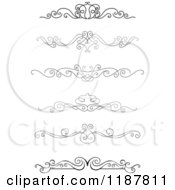 Clipart Of Vintage Swirl Borders Royalty Free Vector Illustration