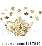 Clipart Of A Tea Pot And Items Royalty Free Vector Illustration