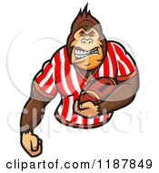 Clipart Of A Gorilla Football Referee 2 Royalty Free Vector Illustration by Vector Tradition SM
