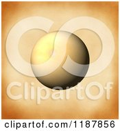 Clipart Of A 3d Sphere Over Vintage Paper Royalty Free CGI Illustration