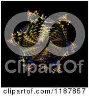 Clipart Of A Colorful Spiraling Fractal On Black Royalty Free CGI Illustration