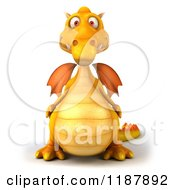 3d Yellow Dragon