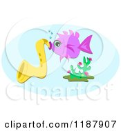 Fish Playing A Saxophone Underwater