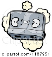 Cartoon Of A Cassette Tape Royalty Free Vector Illustration