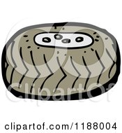 Cartoon Of A Tire Royalty Free Vector Illustration by lineartestpilot