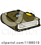 Cartoon Of A Book Of Magic Spells Royalty Free Vector Illustration