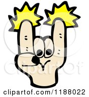 Cartoon Of A Hand Doing Roak On Royalty Free Vector Illustration by lineartestpilot