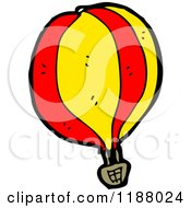Cartoon Of A Hot Air Balloon Royalty Free Vector Illustration by lineartestpilot