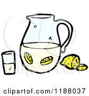 Cartoon Of A Pitcher Of Lemonade Royalty Free Vector Illustration by lineartestpilot