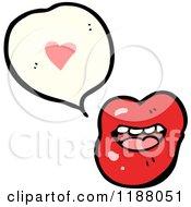 Cartoon Of Vampire Lips Speaking Royalty Free Vector Illustration