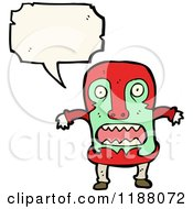 Cartoon Of A Witch Doctor Speaking Royalty Free Vector Illustration