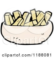 Cartoon Of A Bowl Of Noodles Royalty Free Vector Illustration