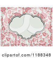 Clipart Of A Vintage Pink And Beige Floral Wedding Invite With A Frame Royalty Free Vector Illustration