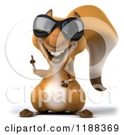 Clipart Of A 3d Happy Squirrel Wearing Sunglasses And Poinging Up Royalty Free CGI Illustration