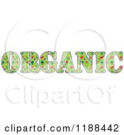 The Green Word ORGANIC With Fruits And Vegetables