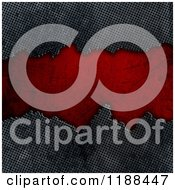 Clipart Of A 3d Cracked Metal Background With Grungy Red Copyspace Royalty Free CGI Illustration