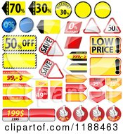 Clipart Of Reflective Retail Sales Tags Royalty Free Vector Illustration