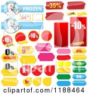 Clipart Of Reflective Retail Sales Tags 2 Royalty Free Vector Illustration