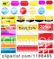 Clipart Of Reflective Retail Sales Tags 3 Royalty Free Vector Illustration
