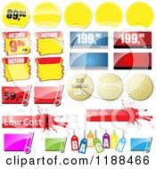 Clipart Of Reflective Retail Sales Tags 4 Royalty Free Vector Illustration