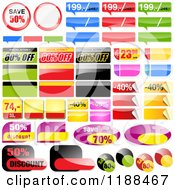 Clipart Of Reflective Retail Sales Tags 5 Royalty Free Vector Illustration