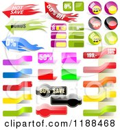 Clipart Of Reflective Retail Sales Tags 6 Royalty Free Vector Illustration