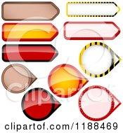 Clipart Of Reflective Round And Rectangular Price Tag Design Elements Royalty Free Vector Illustration