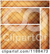Clipart Of Brown Plaid Website Banners And Background Royalty Free Vector Illustration