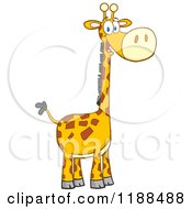 Cartoon Of A Cute Happy Giraffe Royalty Free Vector Clipart by Hit Toon