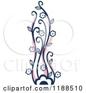 Clipart Of A Blue And Pink Flowering Plant Royalty Free Vector Illustration by Cherie Reve