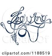 Clipart Of Written Dark Blue Loving Royalty Free Vector Illustration by Cherie Reve