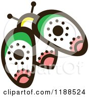 Clipart Of A Floral Beetle Royalty Free Vector Illustration