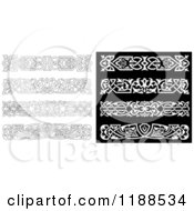 Clipart Of Ornate Black And White Borders Royalty Free Vector Illustration