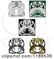 Clipart Of Celtic Heron Knots Royalty Free Vector Illustration by Vector Tradition SM