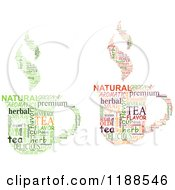 Clipart Of Tea Cups Made Of Word Tags Royalty Free Vector Illustration by Vector Tradition SM