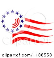Clipart Of An American Stars And Stripes Flag Royalty Free Vector Illustration