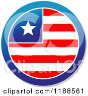 Clipart Of A Round American Stars And Stripes Label 5 Royalty Free Vector Illustration