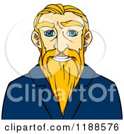 Clipart Of A Happy Senior Man With A Long Blond Beard Royalty Free Vector Illustration by Vector Tradition SM