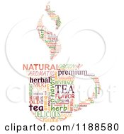 Clipart Of A Tea Cup Made Of Word Tags Royalty Free Vector Illustration by Vector Tradition SM