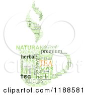 Clipart Of A Green Tea Cup Made Of Word Tags Royalty Free Vector Illustration by Vector Tradition SM